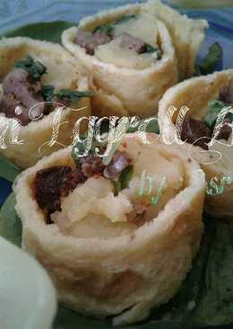 Sushi eggroll batia (bayam& ati ayam)