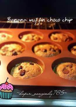 Banana Muffin Choco chip #bikinramadhanberkesan