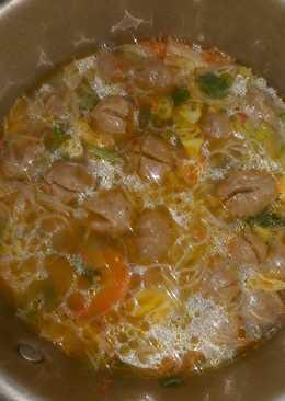 Sup bakso sederhana
