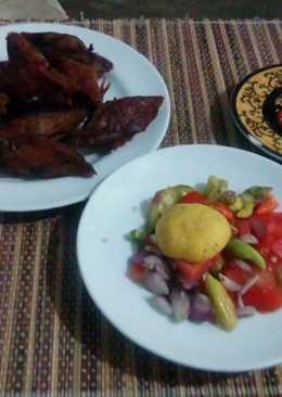 Tongkol goreng sambal mentah