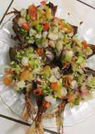 Ikan kembung goreng sambal dabu-dabu