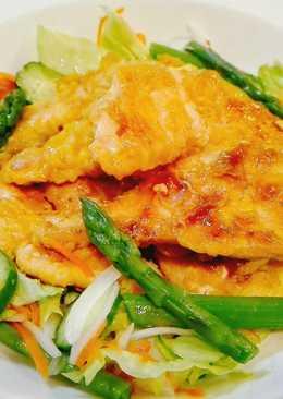 Simple Chicken Katsu saus Asam Manis