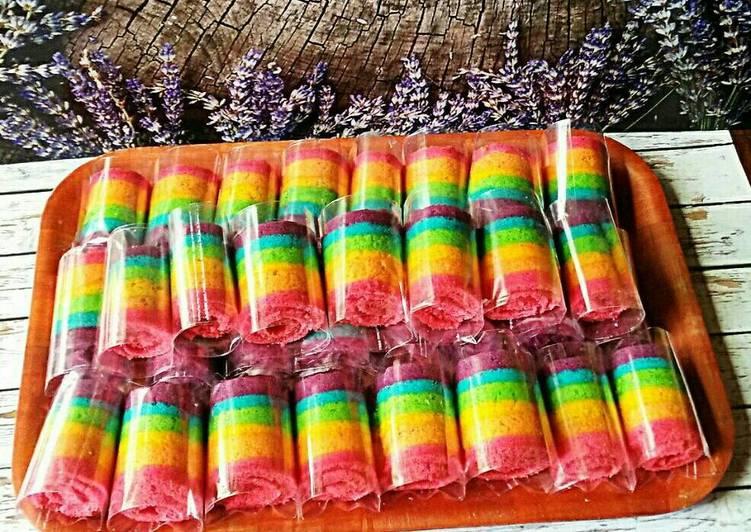 Resep Rainbow Cake Gulung Oleh Rachmawati Yunita Cookpad
