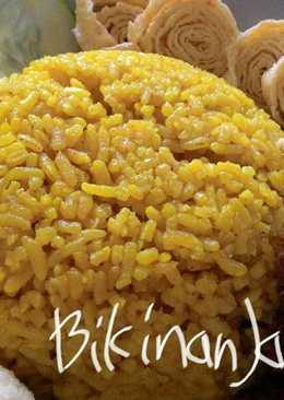 Nasi Kuning Bumbu Lengkap