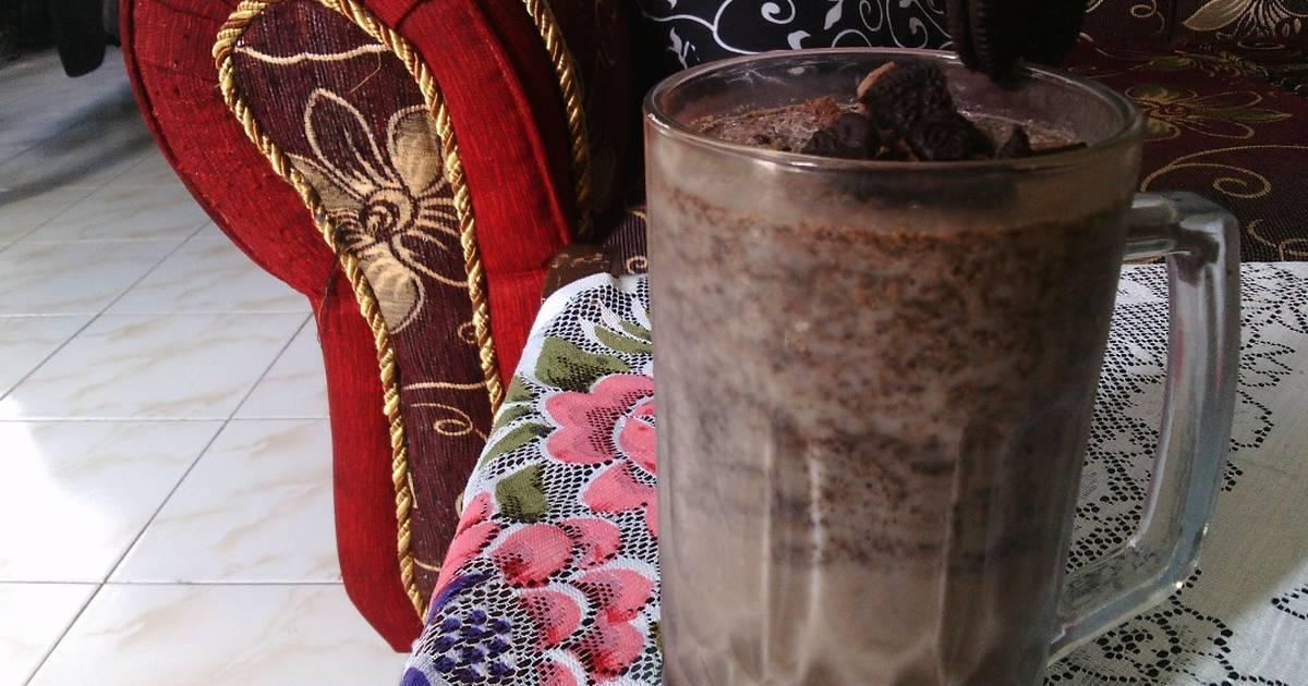 Resep Oreo milkshake creamy