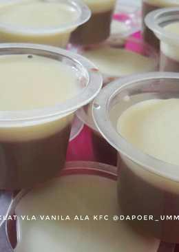 Puding coklat vla vanila ala kfc/#aop_platingbarenganekapudding