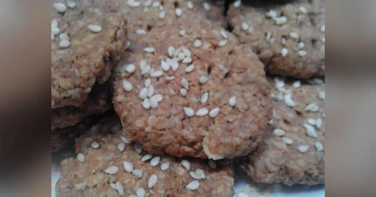 Resep Oat Choco Cookies tanpa terigu (sehat simple 4 bahan aja)
