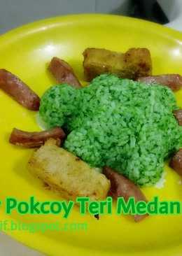 Nasgor Pokcoy Teri Medan (toddler meal)