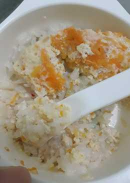 Telur kukus+tofu+wortel 16months