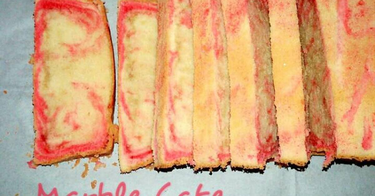 Resep Marble Cake Strawberry