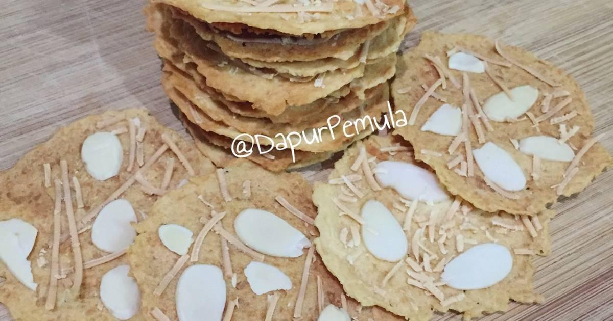 Resep Almond Crispy Cookies