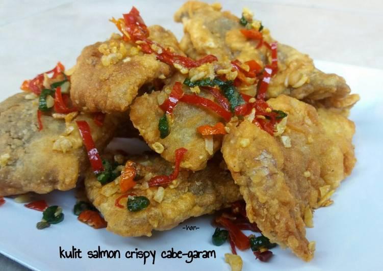 Kulit Salmon Crispy Cabe Garam