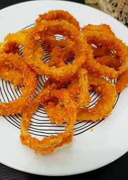 Onion rings a.k.a bawang bombay goreng tepung