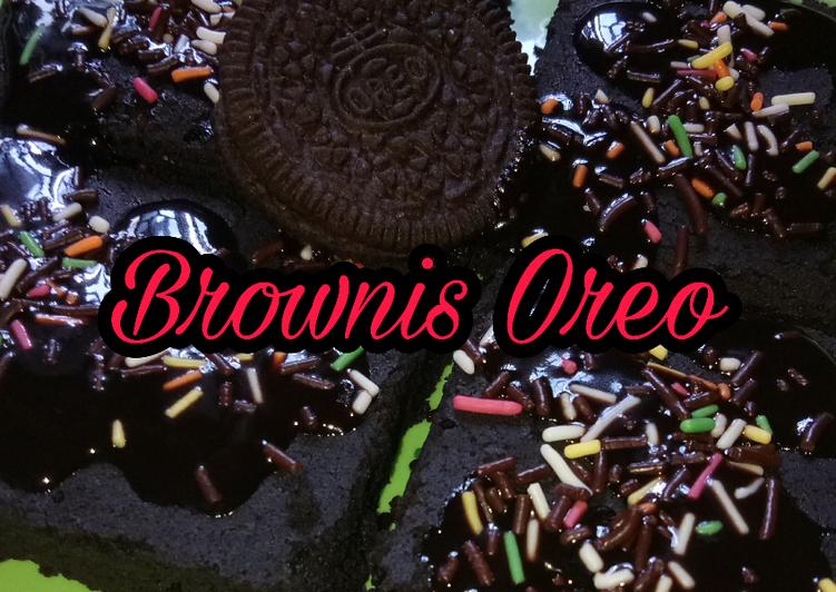 Brownis Oreo 2 bahan aja