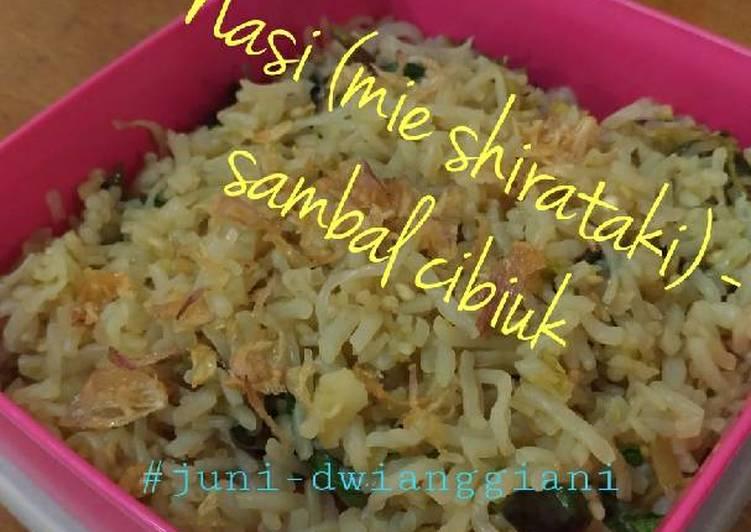 Nasi (mie shirataki) rasa sambel cibiuk