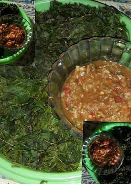 Semanggi & marronggi/morringa/daun kelor sambel sere
