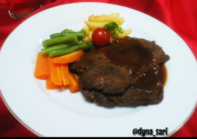 Sirloin Steak Saus Teriyaki