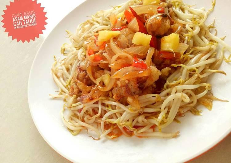 gambar untuk resep makanan Cumi saus asam manis cah tauge