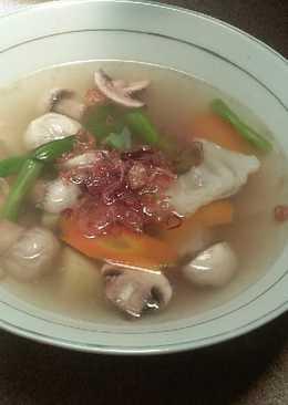 Sayur sop daging jamur