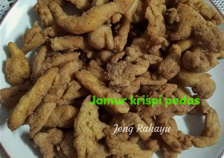 Resep Jamur Krispi Pedas Kiriman dari Iis Rahayu