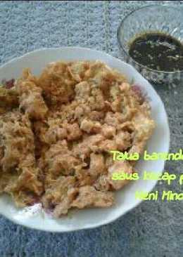 Talua barendo tahu saus kecap padeh