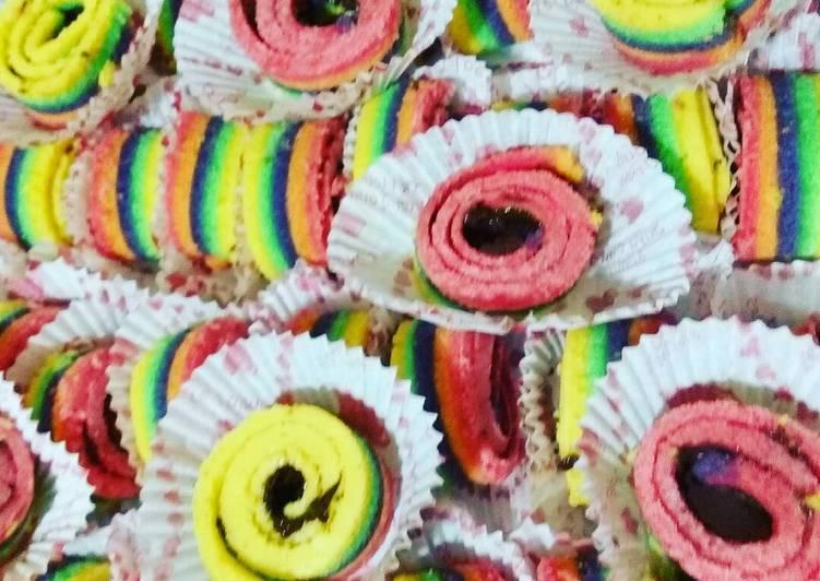 Resep Rainbow Cake Gulung Oleh Reany Cookpad
