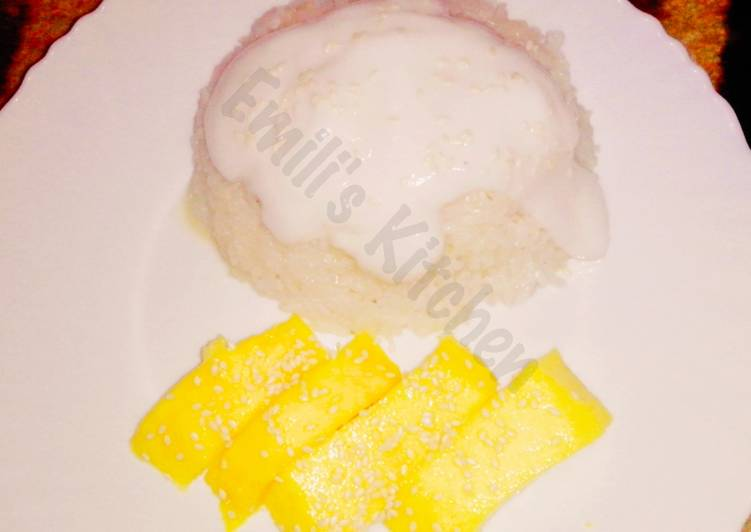 resep makanan Mango Sticky Rice (Thai Dessert)