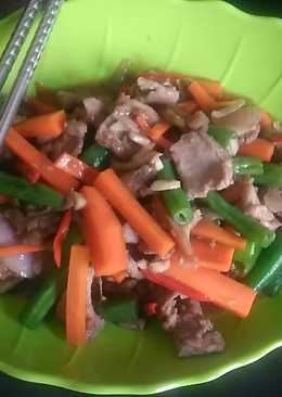 Daging teriyaki mix sayuran