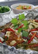 Ikan gurame kukus/steam taucho