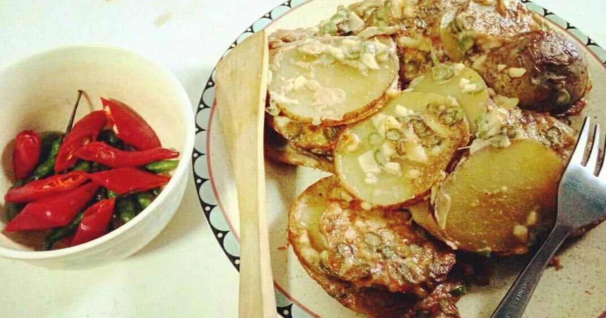 resep kentang bakar keju oleh bayu minarto   cookpad