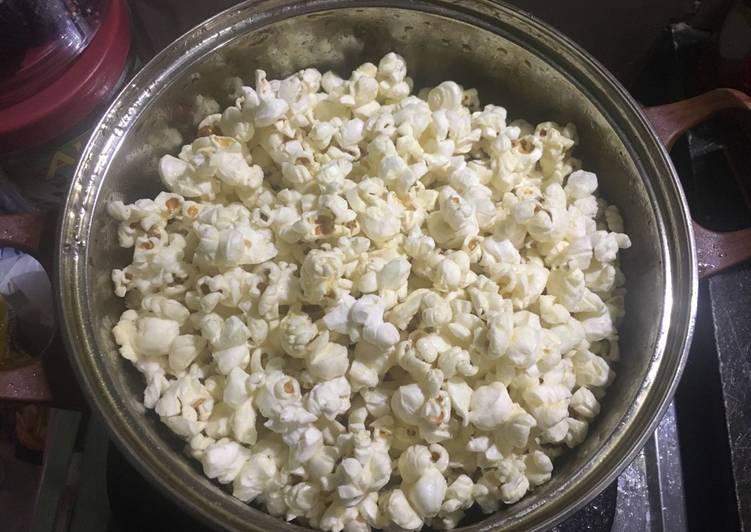 Resep Popcorn asin barbeque - Moonies Kitchen