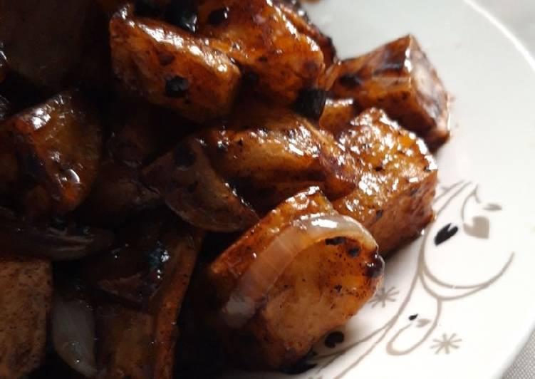 Kentang Saus Lada Hitam Potato Black Pepper Sauce