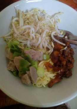 Mie Yamin / Mie Ayam Kuah Bakso Simpel👍 #pr_anekamiekuah