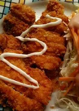 Chiken katsu with salad