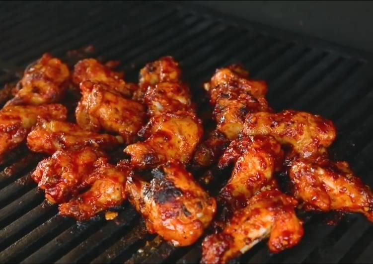 gambar untuk resep Korean Spicy BBQ Chicken Wings
