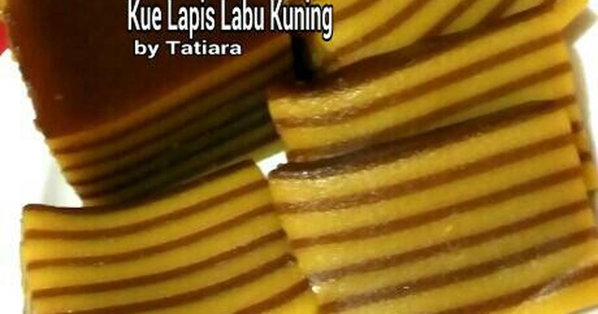 Resep Cake Kukus Labu Kuning Lapis Coklat: Resep Kue Lapis LABU KUNING Oleh Tatiara
