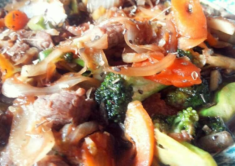 Broccoli 'n Beef Teriyaki a la Bunbun Ninskie