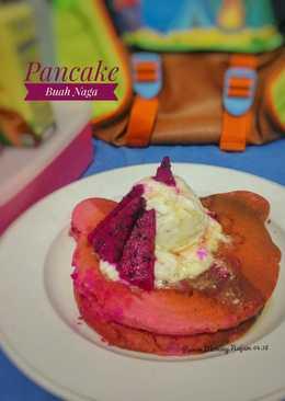 Pancake Buah Naga #kamismanis