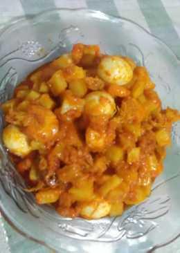Sambel Goreng Udang Kentang &Telur puyuh