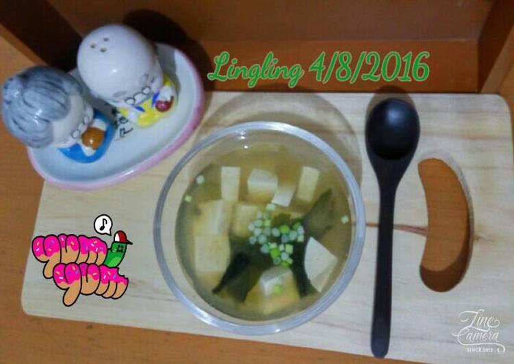 Miso Soup Tahu