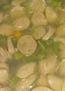 Sup telur puyuh dan bakso