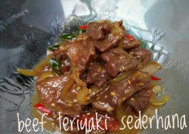 resep masakan Beef Teriyaki sederhana #KitaBerbagi