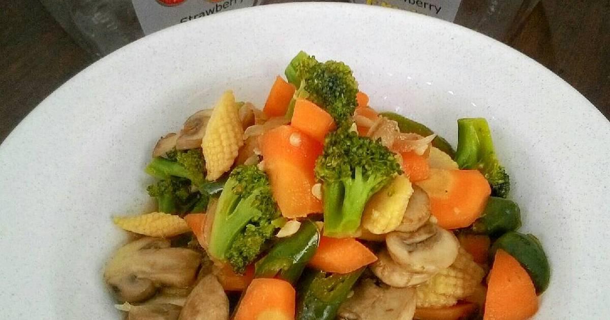 resep tumis jamur kancing dan sayuran oleh anandita   cookpad
