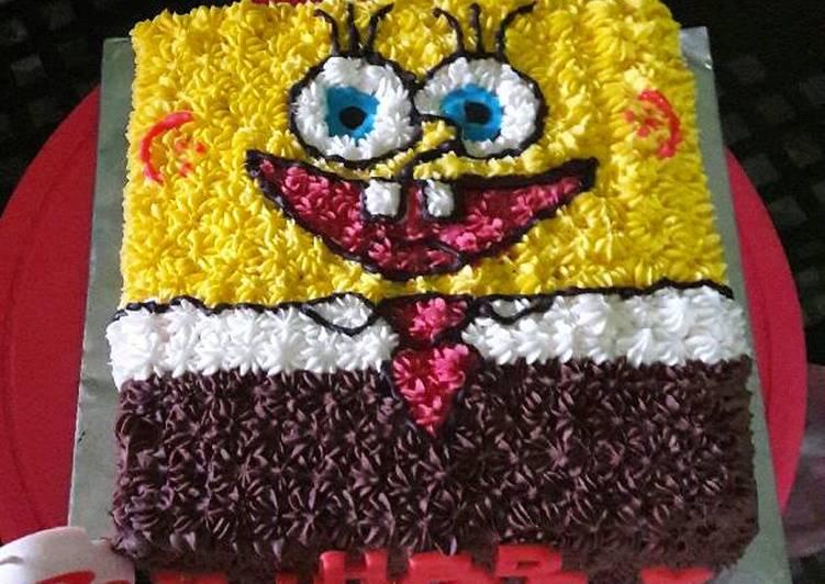 Resep Kue Ulang Tahun Karakter Spongebob Oleh Zeti Dapur Ma2sero