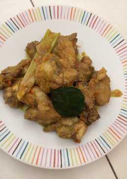 Rica rica ayam pedas dengan cabai rawit set*n