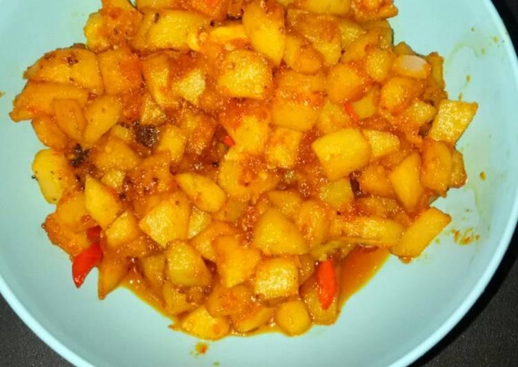 Sambel goreng kentang (simple)