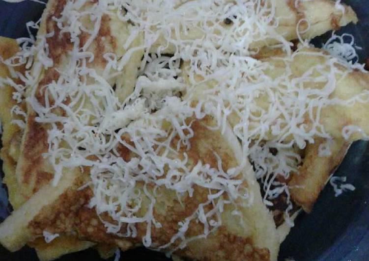resep makanan Roti Panggang Teflon Tabur Keju