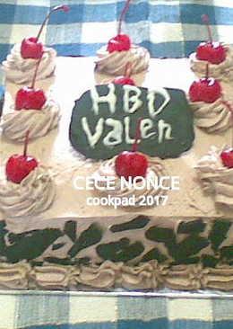 357 resep birthday cake chocolate cherry enak dan sederhana Cookpad