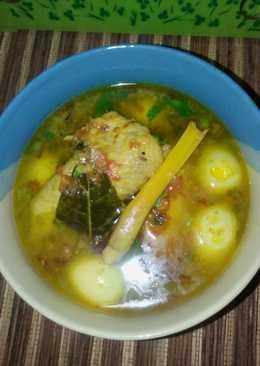 Soto Sayap Ayam + Telor Puyuh