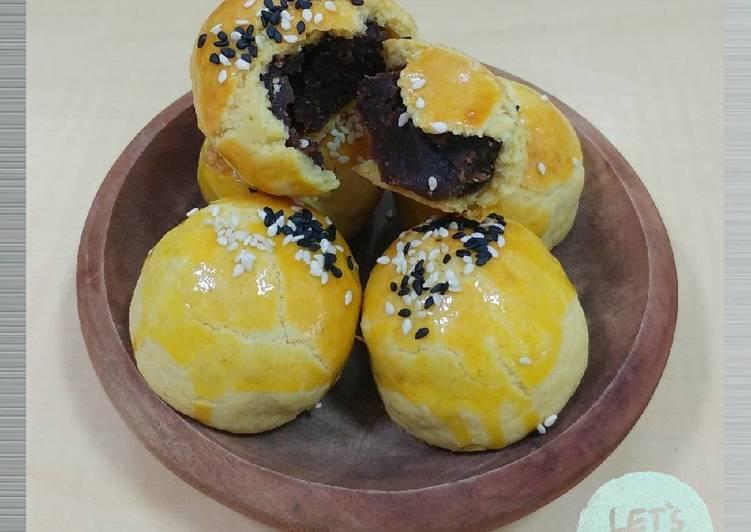 Resep Shanghai Mooncake / Pia Kacang Merah Oleh Lim Sri Kumalawati